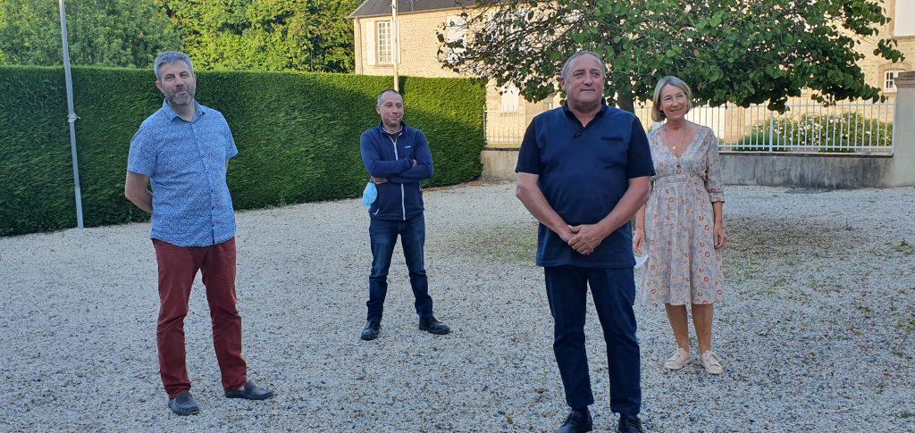 Le maire et ses 3 adjoints